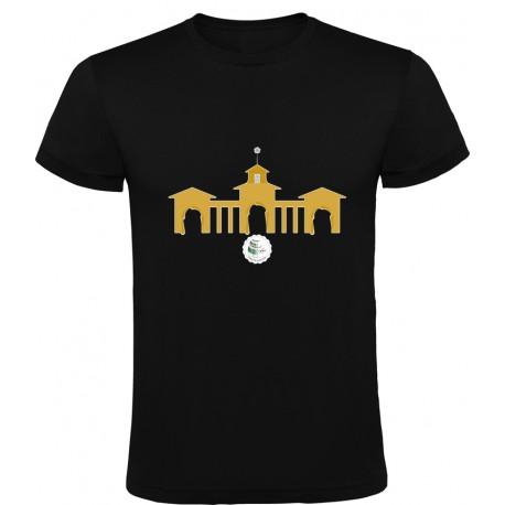 Camiseta Puerta de Hierros Hombre Negra